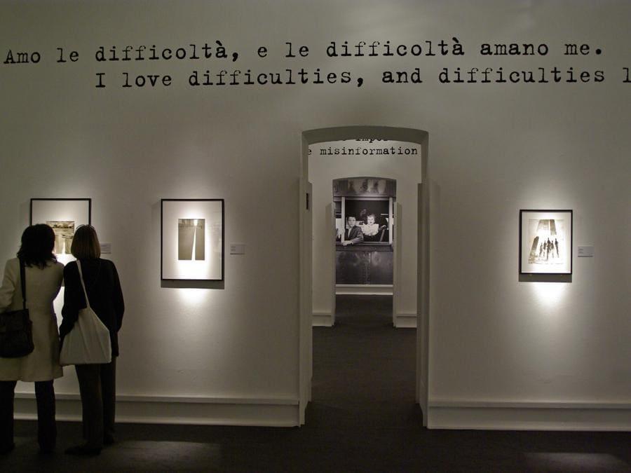 Un'esposizione di opere di Robert Frank, a Milano nel 2008 (Marka)