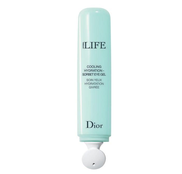 Hydra Life Cooling Hydration Sorbet Eye Gel di Dior, l'applicatore in ceramica permette di distendere subito il contorno occhi e di ridurre visibilmente le borse.