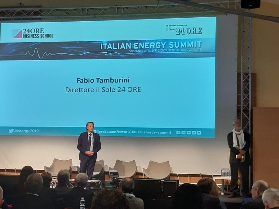 Il saluto del direttore del Sole24Ore Fabio Tamburini all'Energy 2019