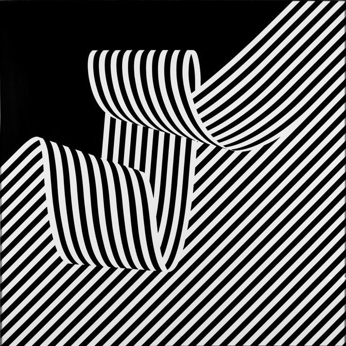 Franco Grignani, Dissociazione dal bordo, 1969, acrilico su cartone Schoeller e masonite, 70x70 cm (Collezione privata, Collezione privata, © Matteo Zarbo)