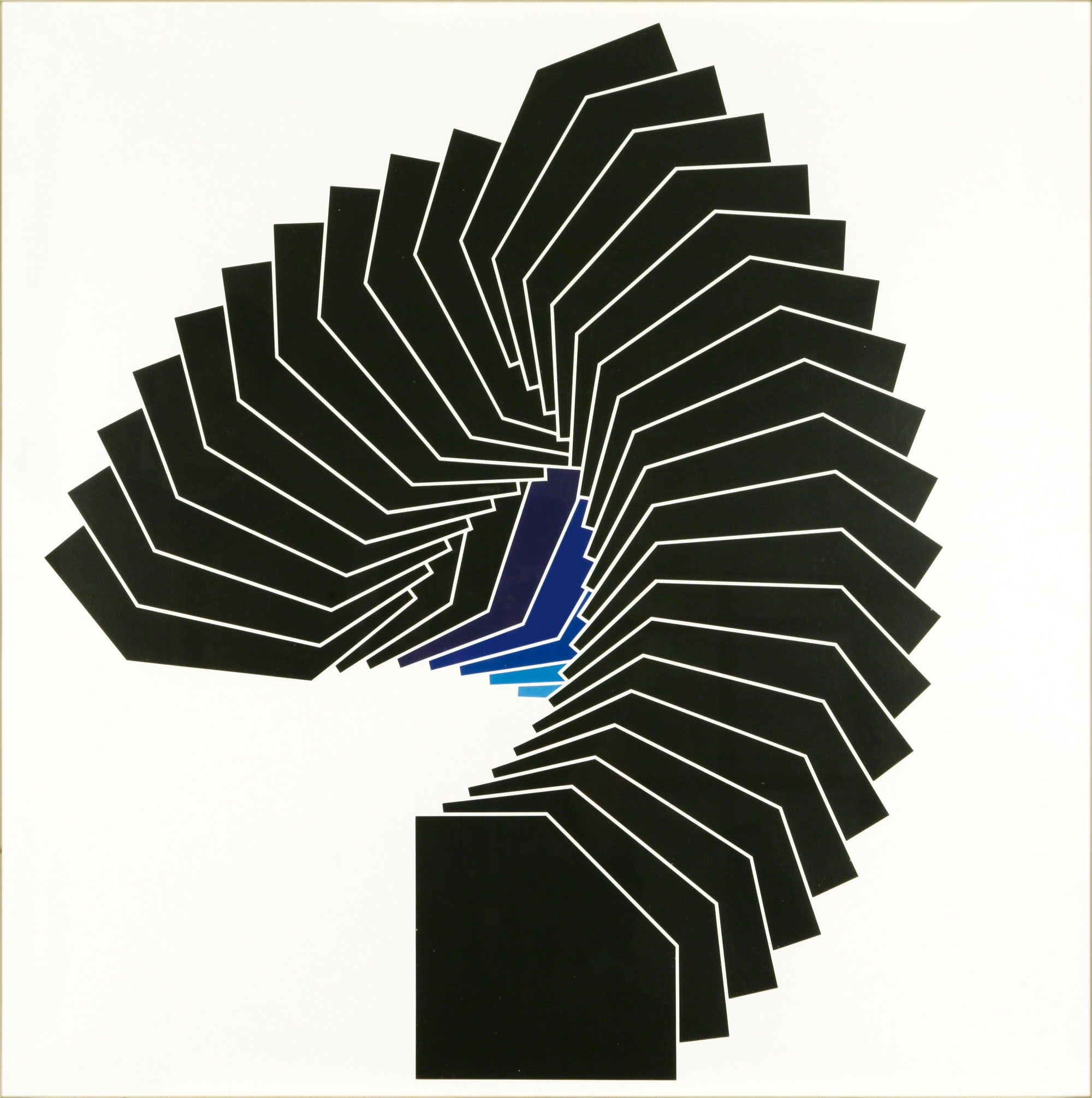 Franco Grignani, Periodica 159, acrilico su cartoncino, 70x70 cm, 1967 (Collezione Lorenzelli Arte, Milano)