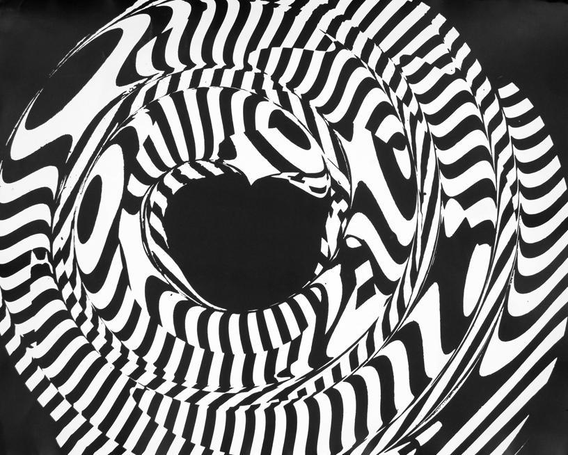 Franco Grignani, Elaborazione ottica da disegno (induzione), anni '50, Gelatina bromuro d'argento/carta, 40x50 cm, Mufoco, Museo di fotografia contemporanea