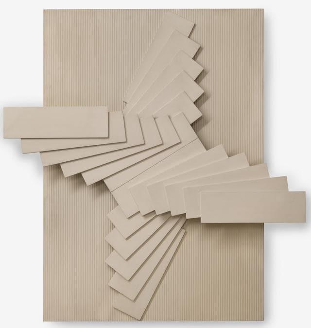 Franco Grignani (1908-1999), Rilievo Plastico Periodico, 1967, legno laccato su linoleum, 142x132x16 cm (Courtesy Zaza Art Advisory, © Carlo Pedroli)