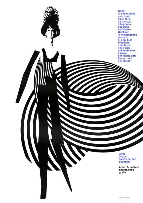 Franco Grignani, Pubblicità Alfieri & Lacroix, 1965, stampa offset, 29,5x21 cm (Archivio Manuela Grignani Sirtoli, © Matteo Zarbo)