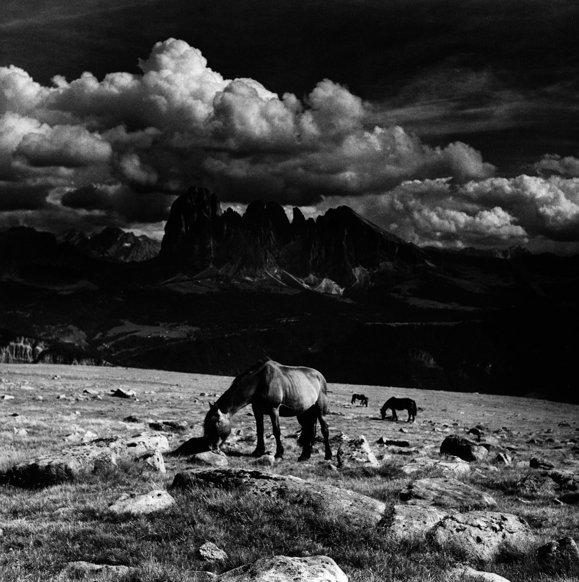 Franco Grignani, Tempo sul Sassolungo, 1950, gelatina bromuro d'argento/carta, 30,5x30,5 cm, Mufoco, Museo di fotografia contemporanea