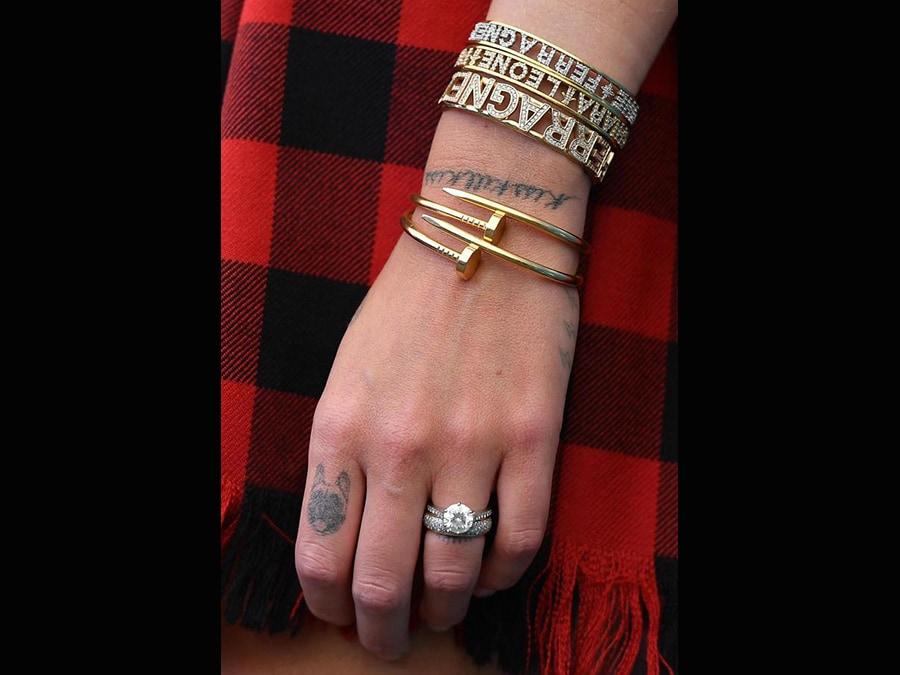 Chiara Ferragni con i bracciali Juste un Clou di Cartier