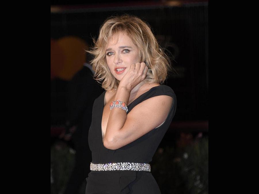 Valeria Golino con gioielli Atelier Swarovski