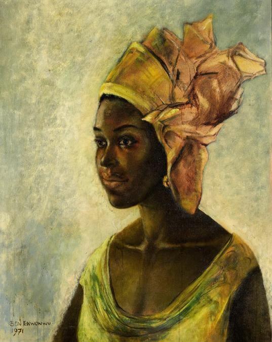 Ben Enwonwu, Christine, stima £100.000-150.000, Courtesy Sotheby's