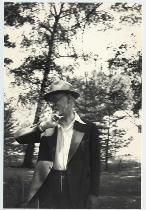 Henri Matisse à Beauvezer, 1935 , archives Henri Matisse DR