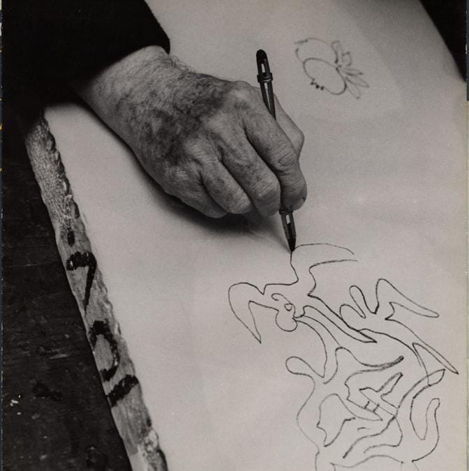 Henri Matisse dessine, par Ina Bandy, 1947, archives Henri Matisse © All...