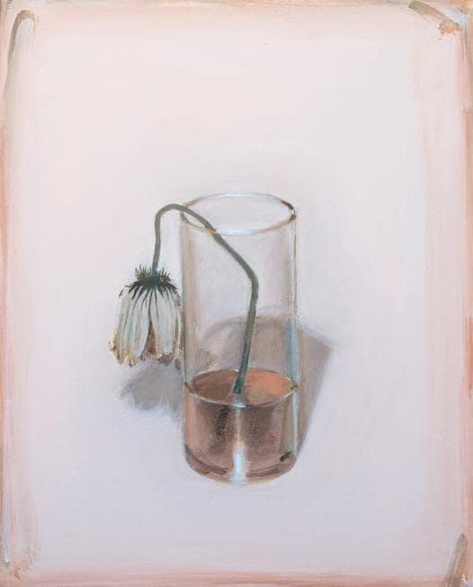 Romina Bassu, Broken bones, 2019, acrilico su tela, cm 50x40, opera venduta da Studio Sales di Norberto Ruggeri (Roma). Il range di prezzo dell'artista varia tra i 1.000 e i 3.500 euro