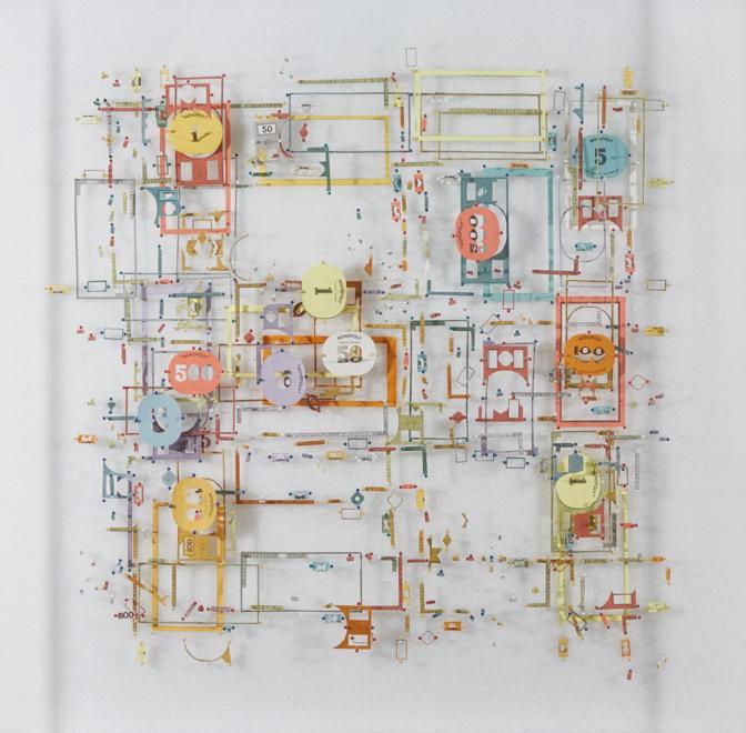 Yuken Teruya, Central Park North, 2018, carta e spilli, 60x40, opera venduta ad ArtVerona dalla galleria Piero Atchugarry (Miami, Usa, Garzón Uruguay). Il range di prezzo dell'artista varia tra i 9 e i 50mila euro. L'opera venduta a 12.000
