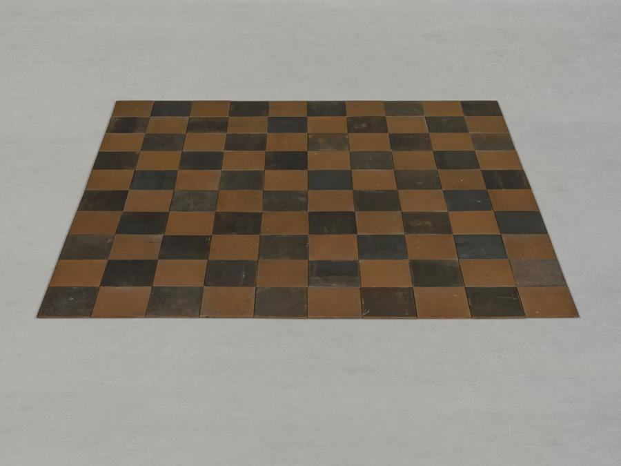 Carl Andre (b. 1935) - Copper-Steel Alloy Square - Price realised  GBP 2,411,250 - Estimate - GBP 1,200,000 - GBP 1,800,000