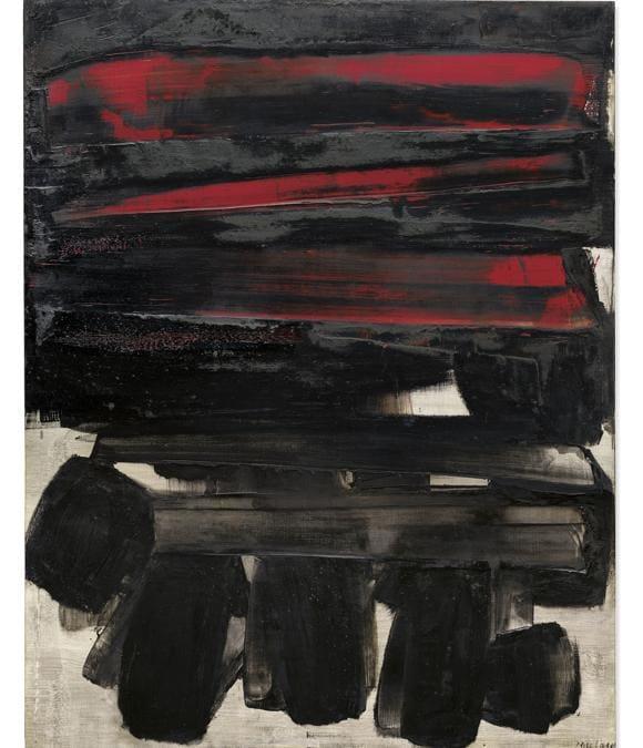 Pierre Soulages (b. 1919) - Peinture 146 x 114 cm, 6 mars 1960 - Price realised  GBP 5,484,000 - Estimate GBP 4,000,000 - GBP 6,000,000
