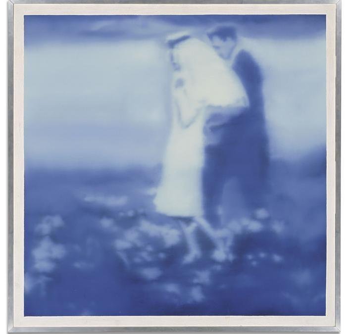 Gerhard Richter (b. 1932) - Brautpaar (blau) (Bride and Groom (blue) - Price realised  GBP 3,131,250 - Estimate - GBP 1,200,000 - GBP 1,800,000