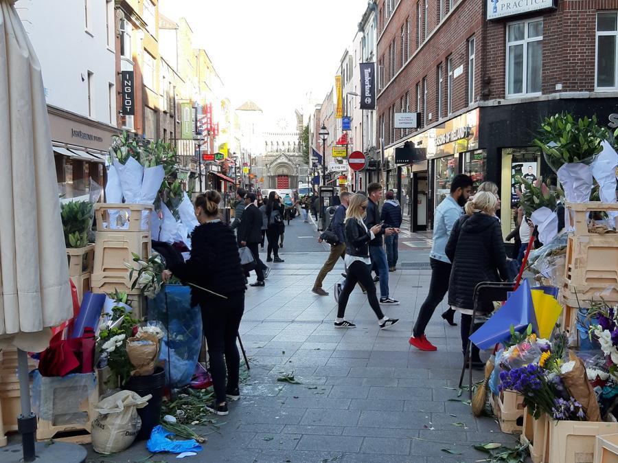 Il mercato dei fiori ad Anne Street, nel centro storico di Dublino