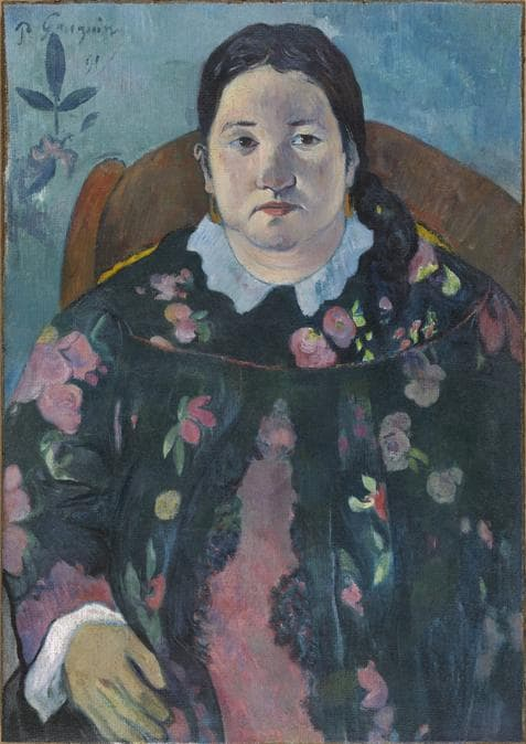 Paul Gauguin, Portrait of Suzanne Bambridge, 1891. Oil on canvas, 70 x 50 cm. Royal Museum of Fine Arts of Belgium, Brussels 4491.  RMFAB, Brussels