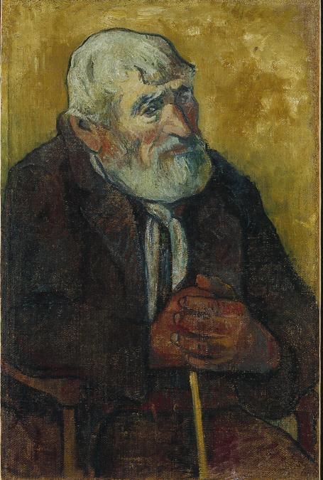 Paul Gauguin, Old Man with a Stick, 1888. Oil on canvas, 70 x 45 cm. Petit Palais, Musée des Beaux-Arts de la Ville de Paris (PPP623).  Petit Palais/Roger-Viollet