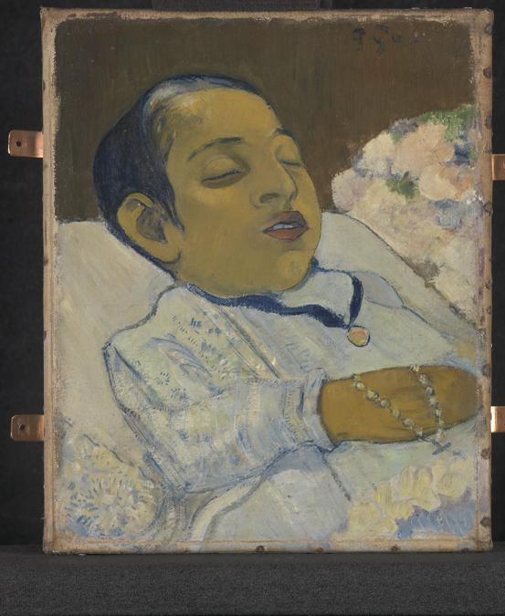 Paul Gauguin, Atiti, 1892. Oil on canvas, 29.7 × 24.7 cm. Kroeller-Mueller Museum, Otterlo, The Netherlands (KM 104.366).  Kröller-Müller Museum