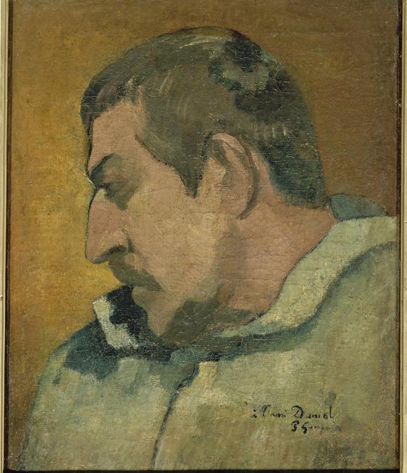 Paul Gauguin, Self Portrait  al'ami Daniel, 1896. Oil on canvas, 40.5 × 32 cm. Musée d'Orsay, Paris. Gift of Madame Huc de Monfried, 1951 (RF 1951-7).  RMN-Grand Palais (musée d'Orsay) / Hervé Lewandowski