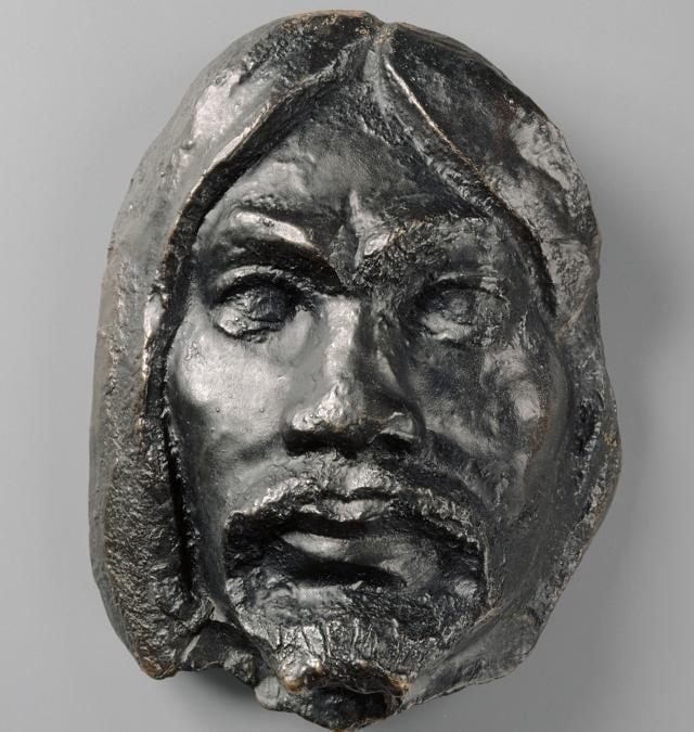 Paul Gauguin, Head of a Savage, Mask, about 1895. Bronze, 25 × 12 × 18 cm. Musée d'Orsay, Paris. Gift of Lucien Vollard, 1944 (AF 14392).  RMN-Grand Palais (musée d'Orsay) / René-Gabriel Ojéda