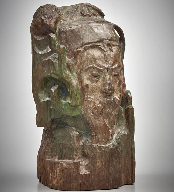 Paul Gauguin, Bust of Meyer de Haan, 1889. Oak, carved and painted, 58.4 × 29.8 x 22.8 cm.  National Gallery of Canada (15310)
