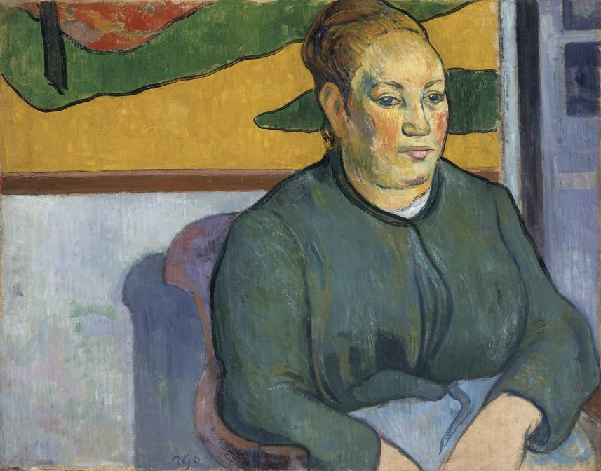 Paul Gauguin, Portrait of Madame Roulin, 1888. Oil on canvas, 49 × 65.5 cm. Saint Louis Art Museum. Funds given by Mrs. Mark C. Steinberg 5:1959. Image courtesy Saint Louis Art Museum
