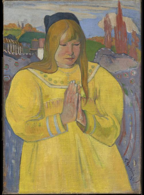 Paul Gauguin, Young Christian Girl, 1894. Oil on canvas, 65.3 × 46.7 cm. Sterling and Francine Clark Art Institute, Williamstown, Massachusetts, USA,  acquired in honor of Harding F. Bancroft, Institute Trustee 1970–1987; President 1977–1987 (1986.22). Image courtesy of the Clark Art Institute, Williamstown, Massachusetts, USA