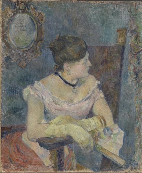 Paul Gauguin, Mette in Evening Dress, 1884. Oil on canvas, 65 × 54 cm.  The National Museum of Art, Architecture and Design, Oslo (NG.M.00771)