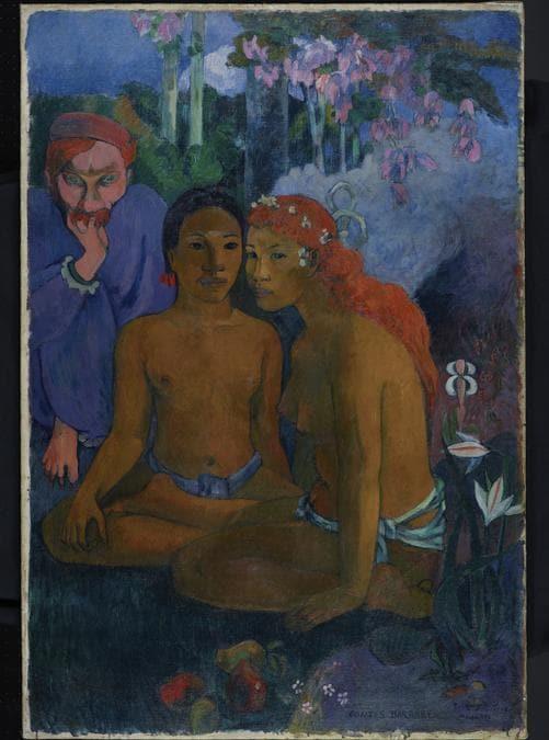 Paul Gauguin, Contes barbares, 1902. Oil on canvas, 131.5 × 90.5 cm. Museum Folkwang Essen (Inv. G 54).  Museum Folkwang Essen / Artothek
