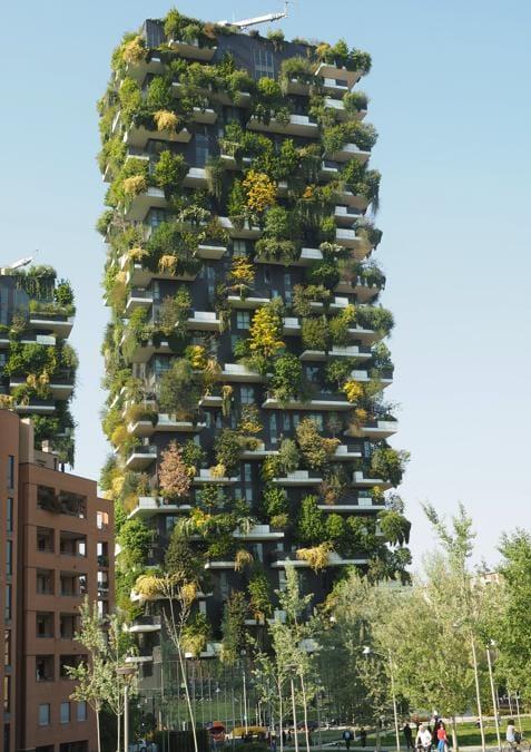 Il Bosco verticale, Milano (Agf)
