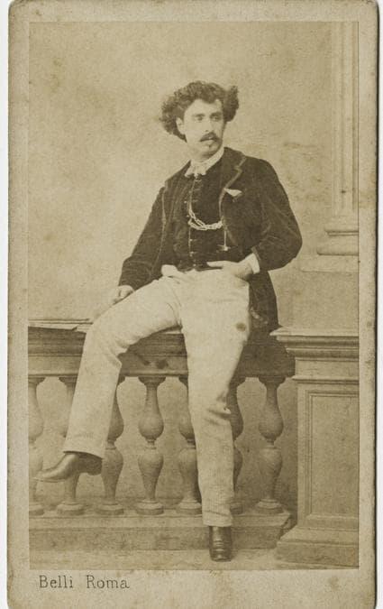 Mariano Fortuny y MarsalFotografia di Filippo Belli - 1866 - stampa all'albumina - Fondazione Musei Civici di Venezia-Museo Fortuny - 104 x 62 mm