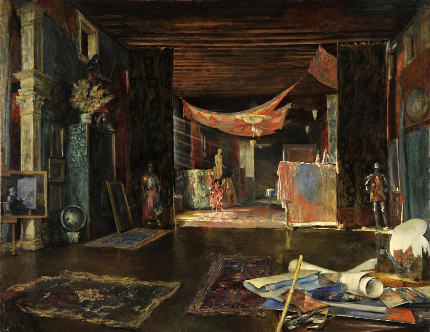 Mariano Fortuny y MadrazoLo studio del pittore a Palazzo Pesaro Orfeisenza data - Tempera su legno - Fondazione Musei Civici di Venezia-Museo Fortuny - 119 x 132,5 cm