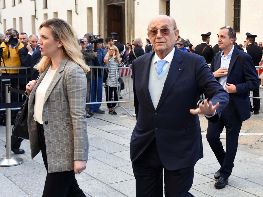 Valentina Pellegrini ed Ernesto Pellegrini (Imagoeconomica)