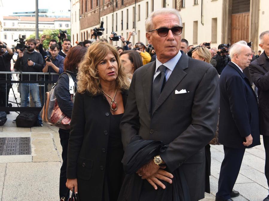 Emma Marcegaglia con il marito Roberto Vancini (Imagoeconomica)