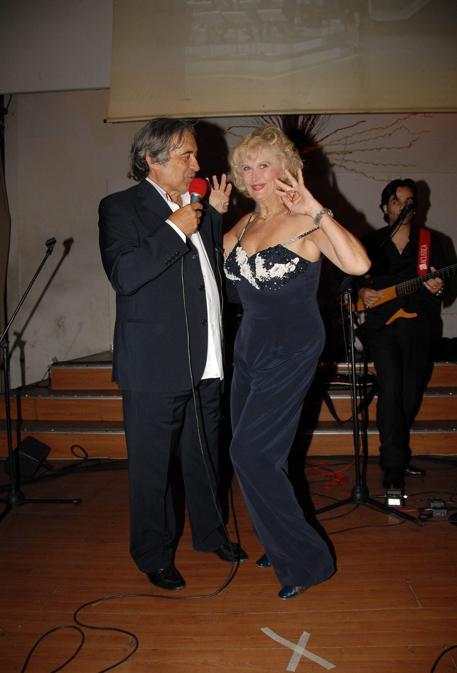 Fred Bongusto con Minnie Mminoprio (Vincenzo Landi Arc / IPA/Fotogramma)