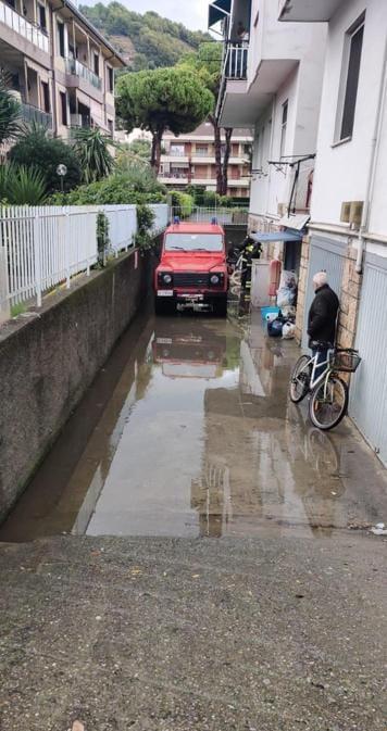 I danni causati dal forte maltempo a Camporosso (Imperia) - (Ansa)