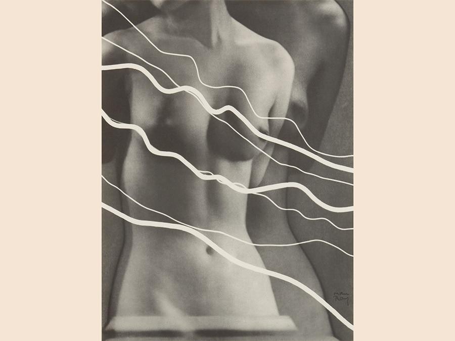 Man Ray,  Electricité, 1931, portfolio di 10 rayografie, courtesy collezione Fondazione Mast  Bologna, © Man Ray Trust by Siae 2019