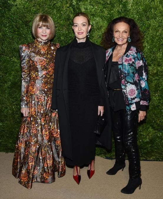 Anna Wintour, Marta Ortega e Diane von Furstenberg