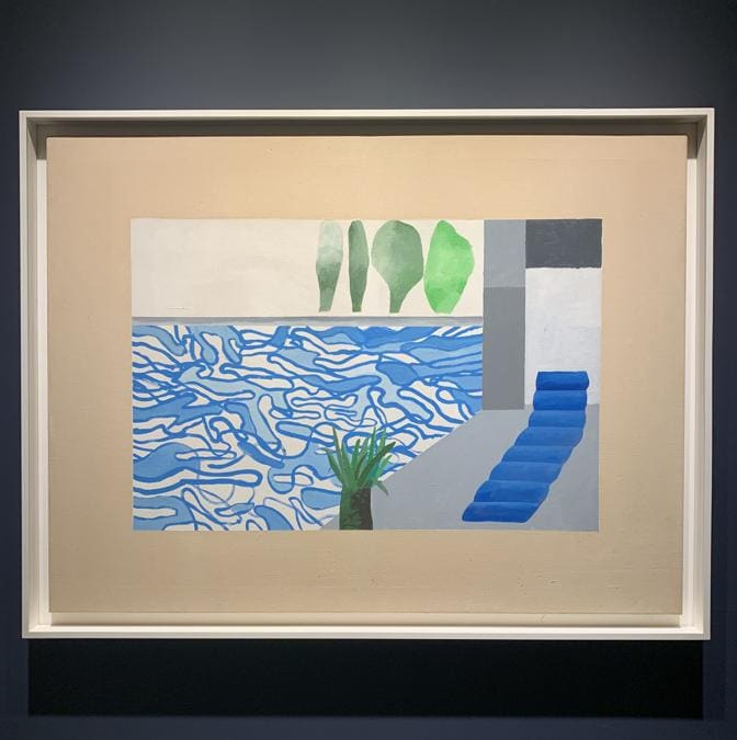 """David Hockney, """"Picture of a Hollywood swimming pool"""", 6.000:000-8.000.000$"""