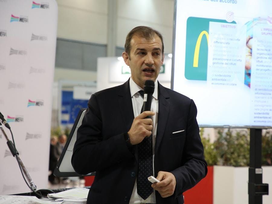 Ecomondo, l'accordo fra Hera e Mc Donalds, Alessandro Moscardi di Mc Donalds