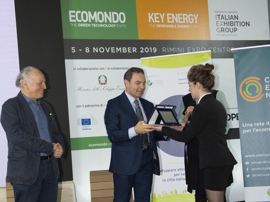 Ecomondo, Premio Sviluppo Sostenibile, Edo Ronchi a sinistra ed Ezio Esposito