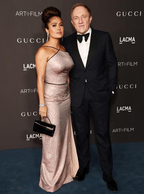 Salma Hayek Pinault e François-Henri Pinault (Photo by Michael Kovac/Getty Images for LACMA)
