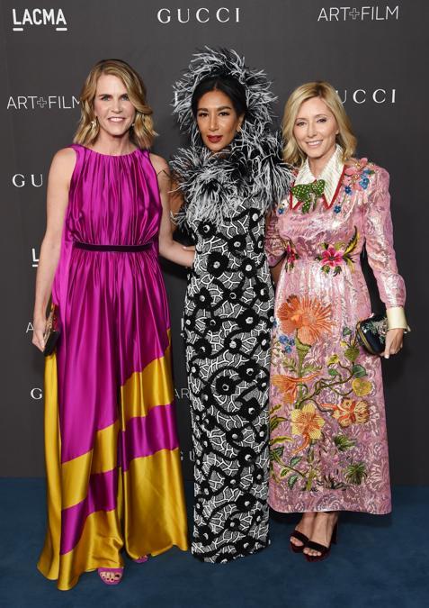 Da sinistra, Colleen Bell, Gelila Puck, e la principessa Marie Chantal di Grecia (Photo by Michael Kovac/Getty Images for LACMA)