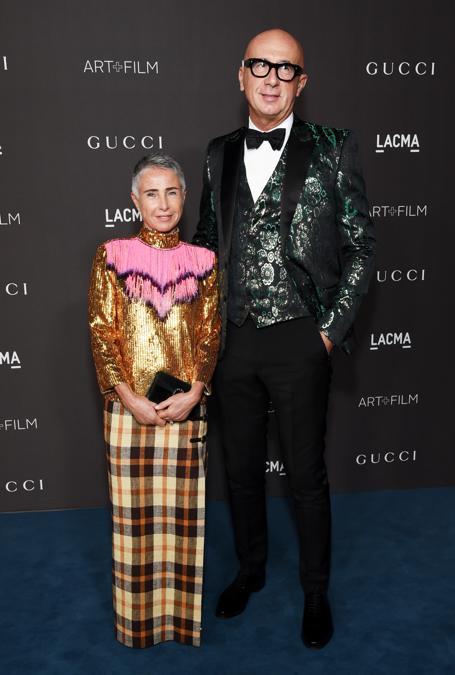 Marco Bizzarri, presidente e ceo Gucci, con la moglie Maristella Levoni (Photo by Michael Kovac/Getty Images for LACMA)