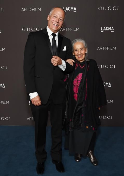 John Mullican e Luchita Hurtado (Photo by Michael Kovac/Getty Images for LACMA)