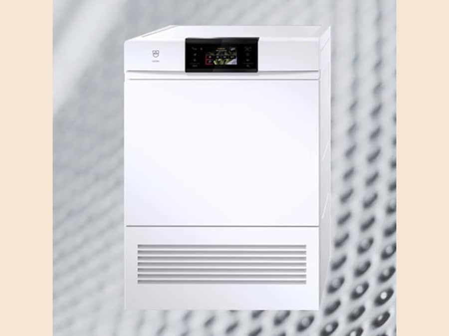 VZUG, Adora V6000, asciugatrice ad alte prestazioni, fabbricata in Svizzera, A+++, a pompa di calore, touch control in 9 lingue, tubo per lo scarico della condensa, da 7 kg, programma rapido da 98 minuti, tratta dal piumone alla biancheria del bambini con 26 programmi diversi