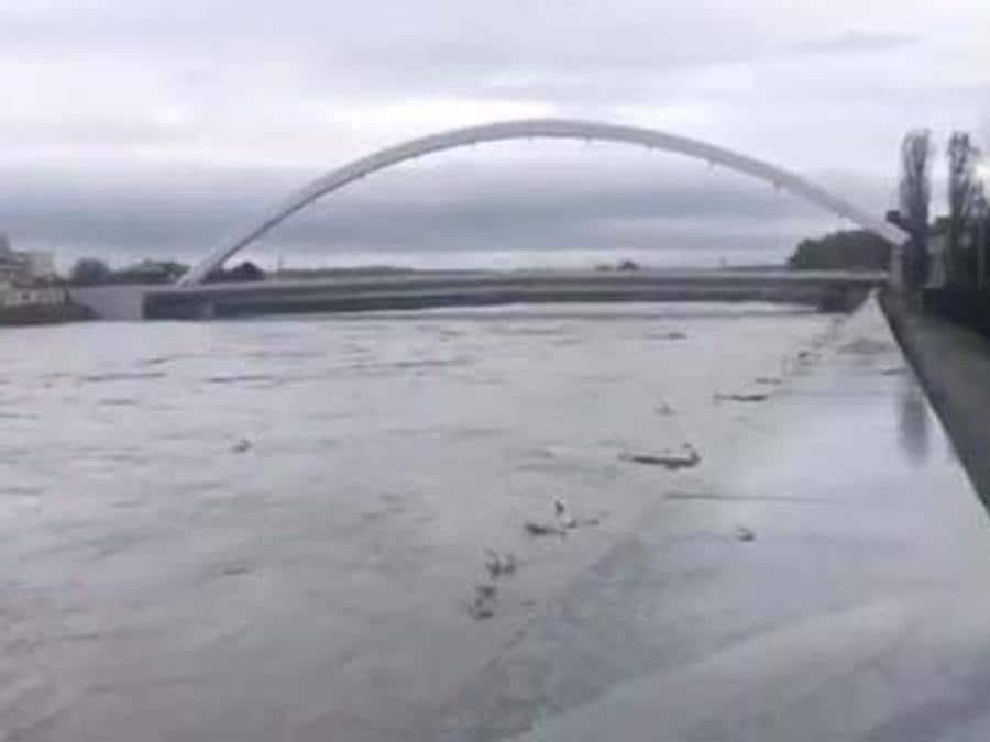 Il fiume Tanaro in provincia di Alessandria. (ANSA)