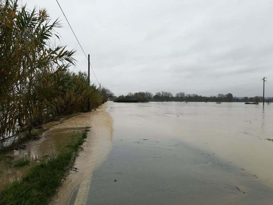 Il fiume Bormida in provincia di Alessandria.(ANSA)