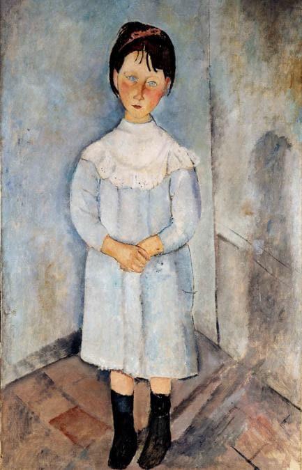 Amedeo Modigliani (Livorno,1884 - Paris, 1920); Fillette en bleu, 1918; olio su tela, 116x73cm; collezione Jonas Netter